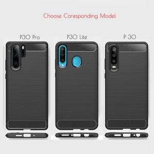 Image 2 - Voor Huawei P30 Lite Case Carbon Fiber Cover Shockproof Phone Case Voor Huawei P40 Lite E/P 30 Pro cover Duurzaam Flex Bumper Huis