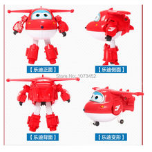 Big size ABS super wings deformation airplane robot anime action figures transformation  toys for children kids gift