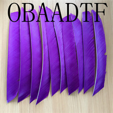 50pcs Purple Full Length Real Turkey Feather For Archery Hunting And Shooting Arrow Fletching Recommend