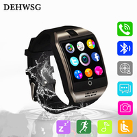 Bluetooth Smart Watch Q18 Intelligent Clock For Android Phone With Pedometer Camera SIM Card Whatsapp Call