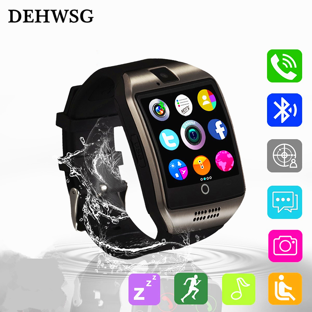 Bluetooth Smart Watch Q18 Intelligent Clock For Android Phone With Pedometer Camera SIM Card Whatsapp Call Message pk A1 ZD09 Y1