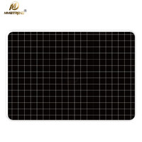 Mimiatrend Black Lattice Laptop Stickers Vinyl Film For Apple MacBook Air Pro Retina 11 13 15