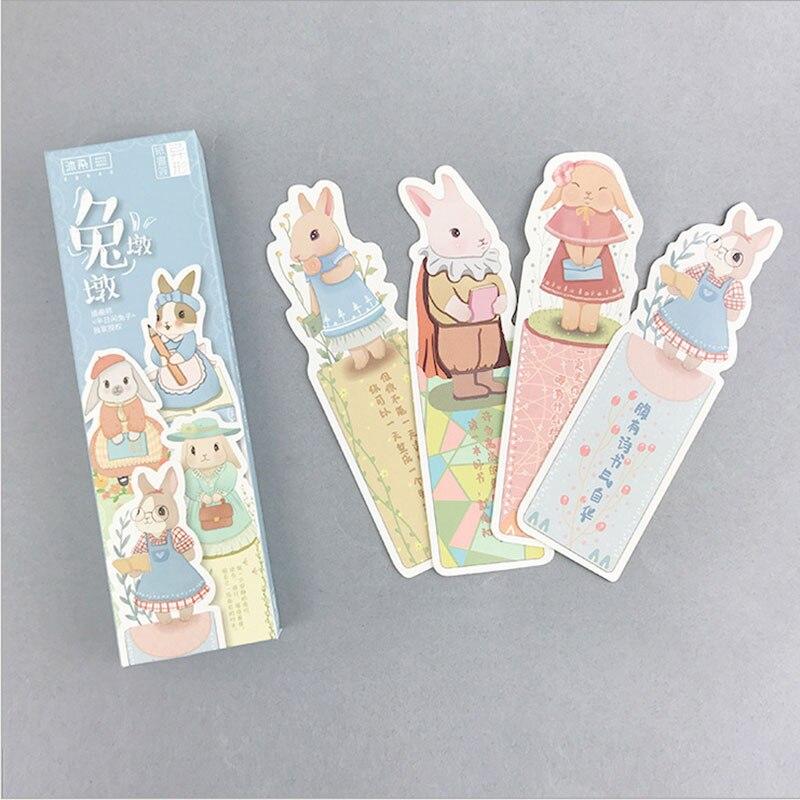 Us 239 30 Off30 Teileschachtel Kreative Kaninchen Lebt Papier Lesezeichen Niedlichen Lesezeichen Buch Halter Nachricht Karte Graffiti Diy Schule
