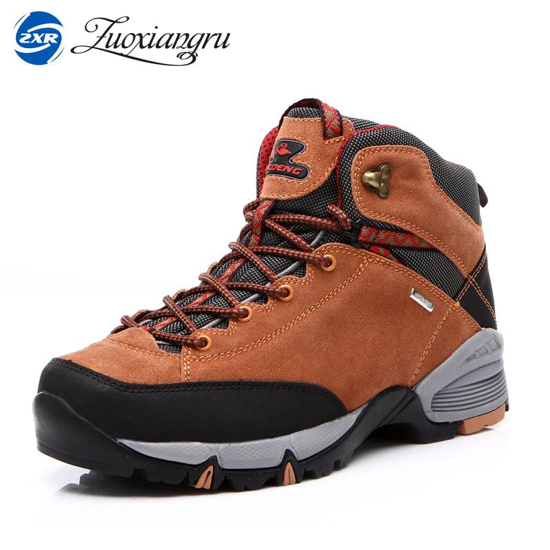 High Cut Unisex Hiking Shoes Wearable Breathable Men's Outdoor Rubber Boots Woman Trekking Shoes Mountain Climbing Sneakers peak sport men outdoor bas basketball shoes medium cut breathable comfortable revolve tech sneakers athletic training boots