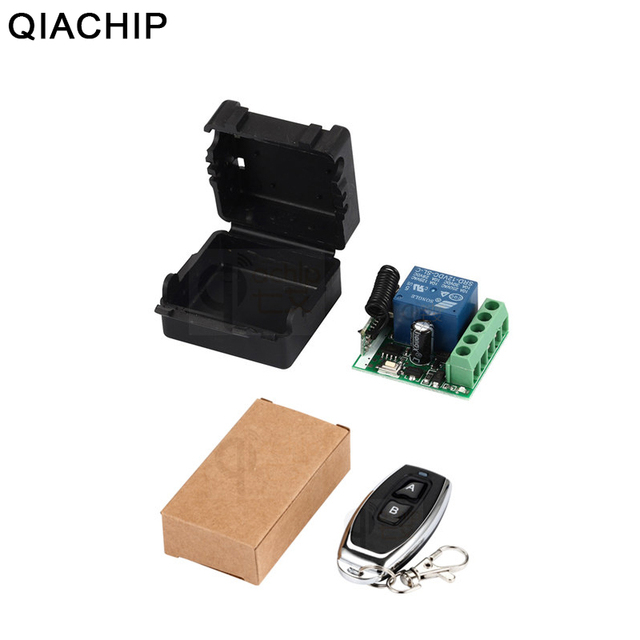 QIACHIP 433MHz Universal Wireless Remote Control Switch DC 12V 1 CH RF Relay Receiver 433 MHz Receiver Module For Light Switches