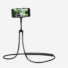 Get more info on the JXSFLYE universal  Mobile Phone Holder Hanging Neck Lazy Necklace Bracket Bed 360 Degree Smartphone Holder Stand