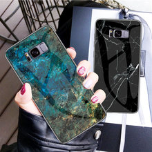 Phone Case for Samsung Galaxy S8 Plus Marble Tempered Silicon Soft Edge Glass Back cover for Samsung Galaxy S8Plus S8 G950F Case(China)