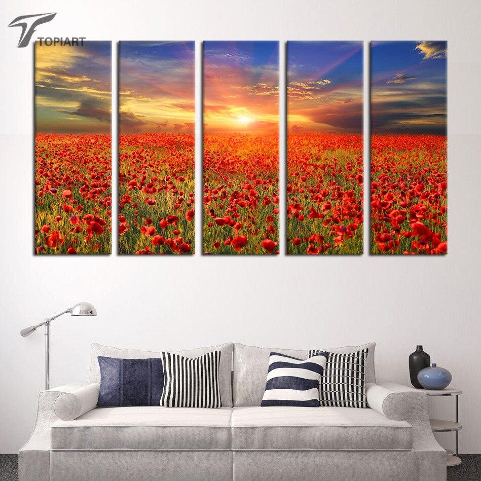Online kopen wholesale poppy wall art uit china poppy wall art ...