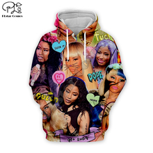 USA Hip-Hop singer Nicki Minaj collage 3d printed Hoodies Women/Men Long Sleeve Sweatshirt zipper harajuku fashion unisex Hooded