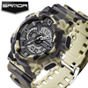 SANDA Fashion Sport Watch Men Dive Military Clock For Mens Watches Top Brand Luxury Camouflage Geneva