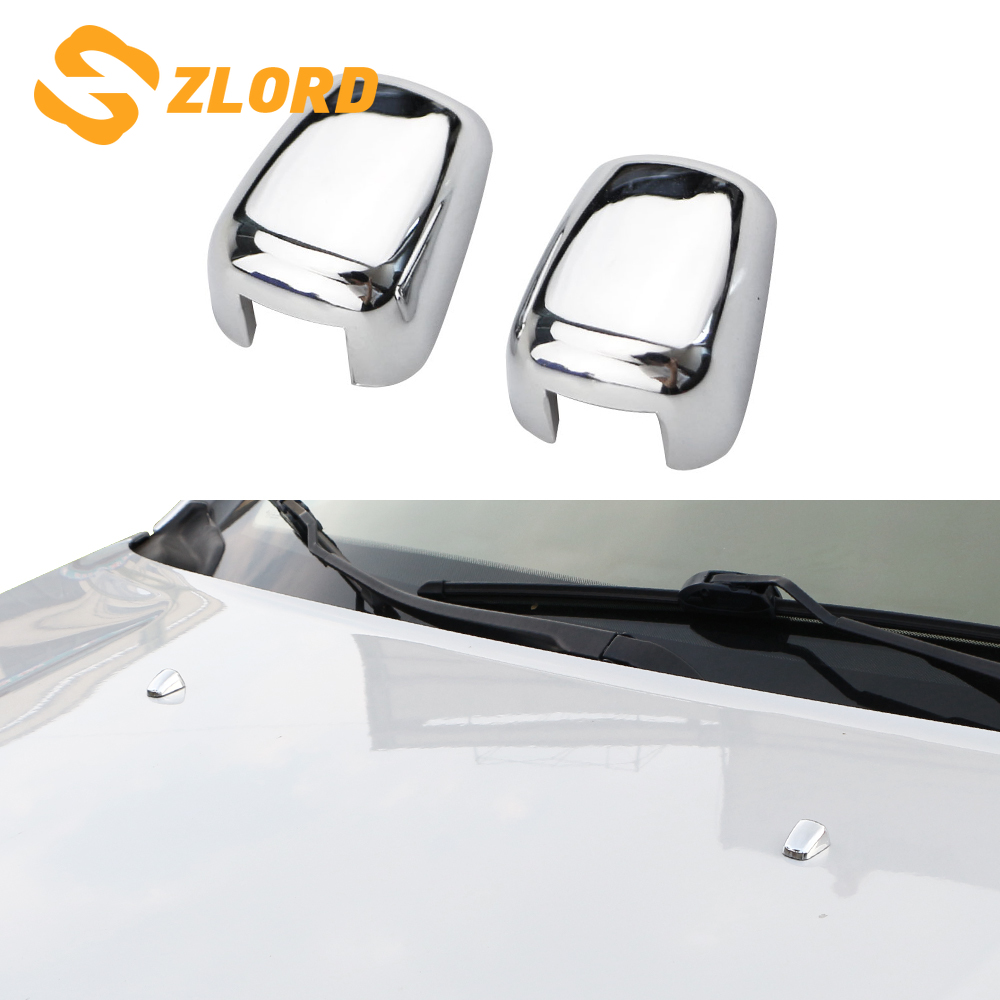ABS Chrome Sprinkler Head Water Spray Nozzle Wiper Water-jet Cover Trim Sticker for <font><b>Jeep</b></font> <font><b>Compass</b></font> 2017 2018 <font><b>2019</b></font> <font><b>Accessories</b></font> image