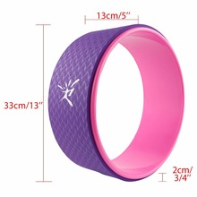 Purple Pink Pilates Yoga Wheel