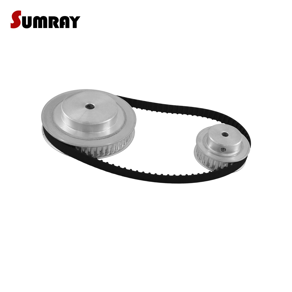 SUMRAY XL Timing Pulley Belt Kit Reduction 1:3 XL 20T 60T Pulley Wheel 11mm Belt Width 164XL Timing Belt Engraving Machine все цены