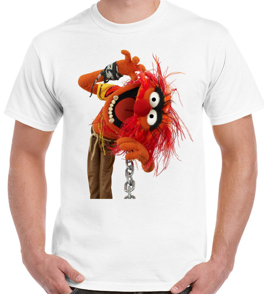 The Muppets Band - Animal ~ Mens Funny, Retro & Cool T-Shirt! Drums Drummer Drum Persona ...