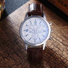 High quality brand men watches Casual fashion men's leather strap quartz watch outdoor sports