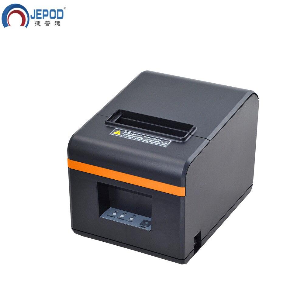 JEPOD XP N160II nouvelle arrivée 80mm automatique cutter reçu imprimante POS imprimante USB/LAN/USB + Bluetooth ports pour magasin de thé au lait - 2