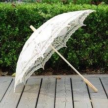 QUNYINGXIU artisanat dentelle blanc parapluie coton décoration mariage photographie Prop danse européenne Performance broderie parapluie