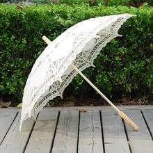 QUNYINGXIU ремесло кружева белый зонтик хлопок украшение Свадьба Фотография реквизит Европейский танец представление Зонт с вышивкой