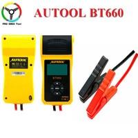 AUTOOL 12V Car Battery Load Tester with printer BT660/Multi language Digital automotive battery tester CCA100 3000 Free ship