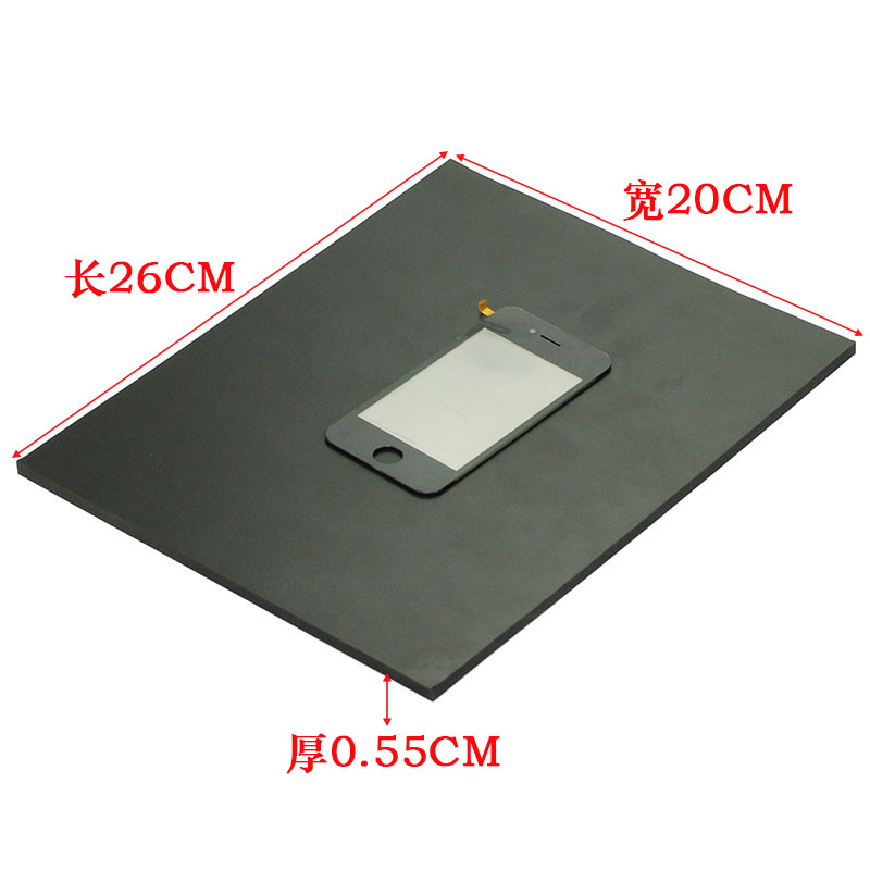 Black Super Material Foam pad Sponge pad phone maintenance vacuum laminating machine Pressure phone screen pad 26*20*5.5mm 5pcs lot oca vacuum laminating machine pressure screen bubble film bubble sponge rubber pad universal mould 260 200mm