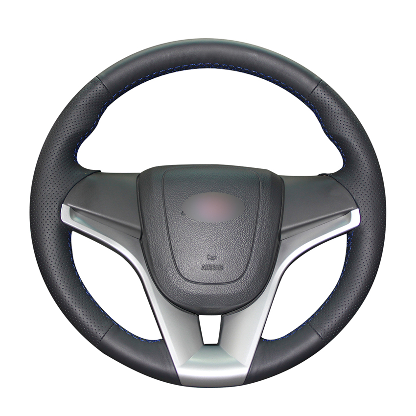 Handsewing Black Pu Artificial Leather Steering Wheel Covers For Chevrolet Cruze 2009-2014 Aveo Orlando Holden Cruze Ravon R4