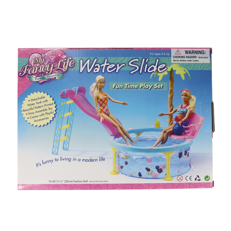 New Doll House Furniture Sport Swimming Pool Series Accessories Plastic Play Set Doll Sun Bath Beach Chair for Barbie Girl Gift in Dolls Accessories from Toys Hobbies