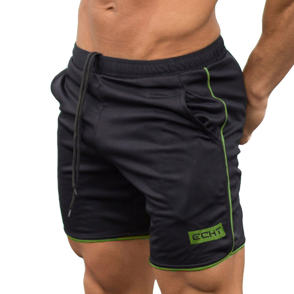 Men's   Shorts   Sports Training Bodybuilding Summer   Shorts   Workout Fitness   Short   Quick Dry Sportswear Jogger Beach   Short   2019