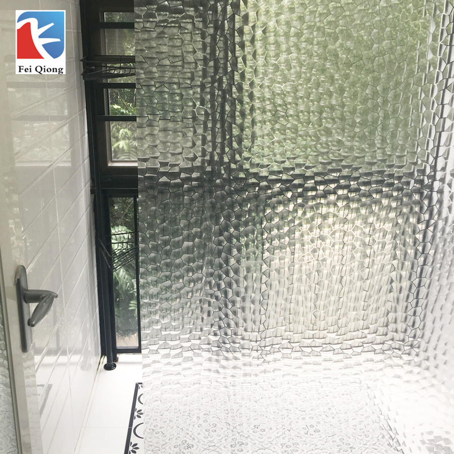Feiqiong Brand PEVA Bathroom Shower Curtains 3D Waterproof Bath Curtain Solid Pattern 180*180CM High Quality