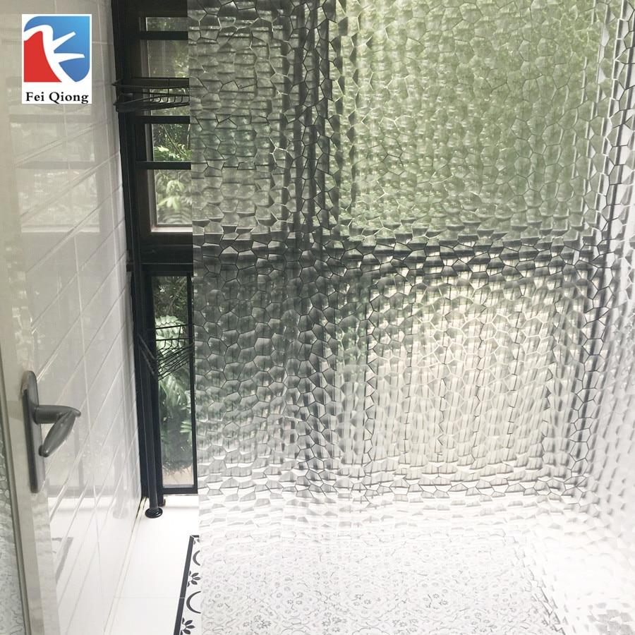 Feiqiong Marke PEVA Bad Dusche Vorhänge 3D Wasserdicht Bad Vorhang Solide Muster 180*180 CM Hohe Qualität