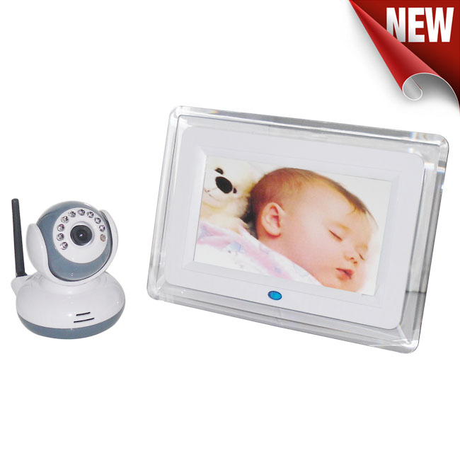 7 Inch LCD Display 2.4Ghz Wireless Baby Monitor Wireless Two Way Intercom