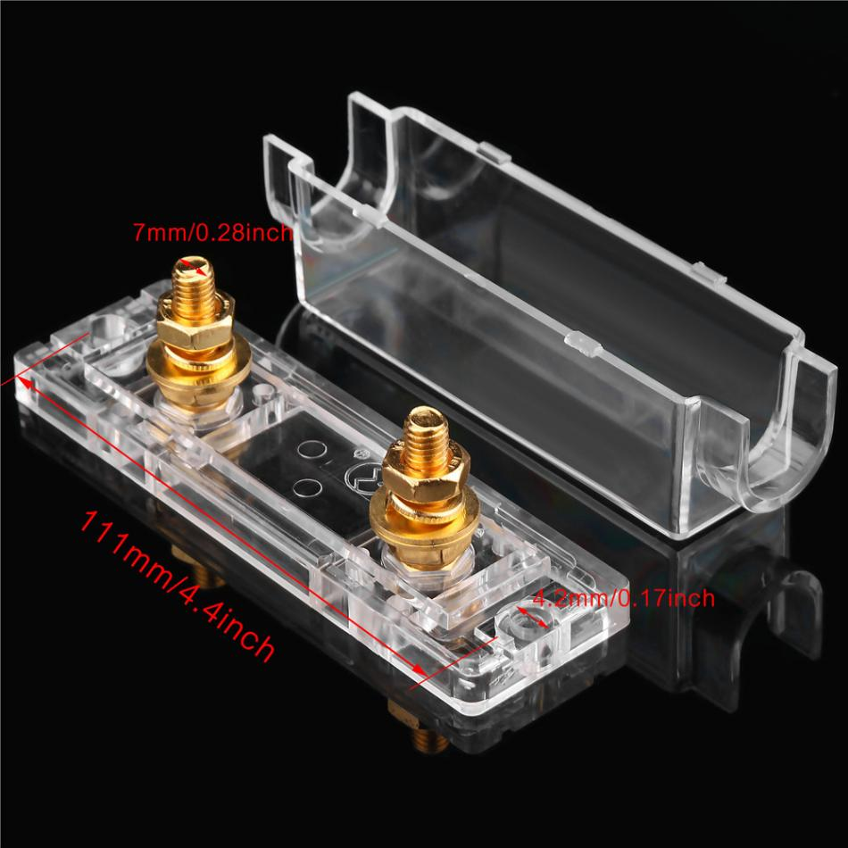 Car Anl Fuse Holder Case Transparent Box Distribution Fuseholder 100a 400a Gauge Cable Inline Block 0 4 8 Ga In Fuses From Automobiles Motorcycles On