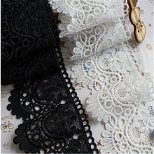 Sweater Hem Lace Dress Accessories Cotton Hollow Water Soluble Lace Trim  Clothes Skirt Decoration Milk Fabric lace insert scalloped asymmetrical hem skirt