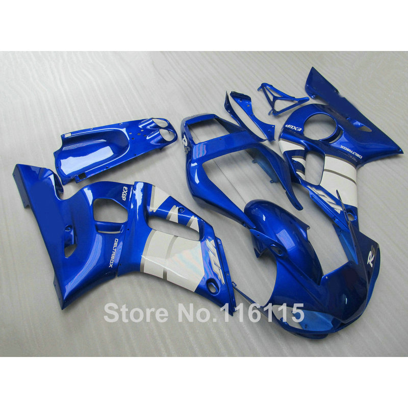 ABS motorcycle parts for YAMAHA 1998-2002 YZF-R6 fairing kit YZF R6 98 99 00 01 02 blue white fairings set NX66