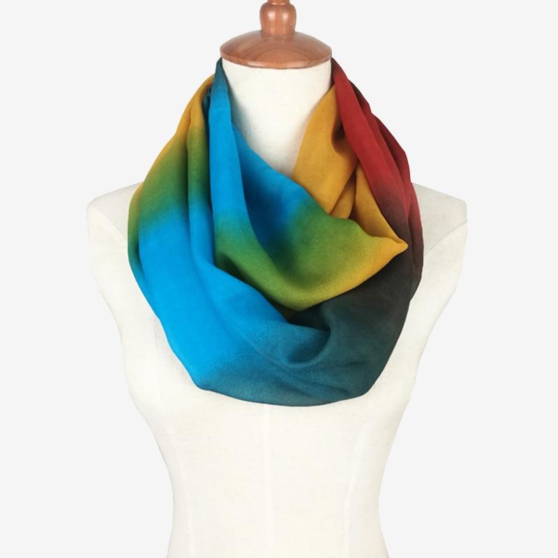 Silky Rainbow Ring Scarf | Infinity Scarves