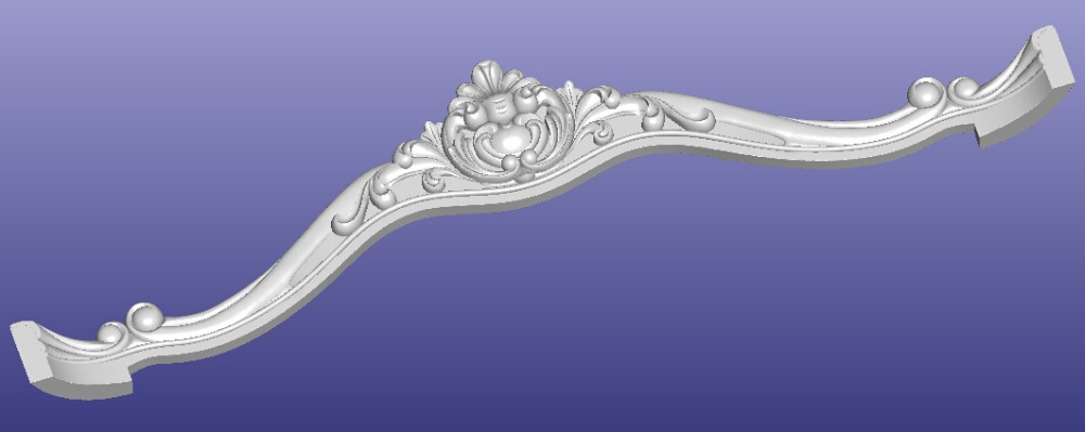 3D STL Model For CNC Router Mill Relief Carving Furniture Design Sofa Bed Part Pattern  308