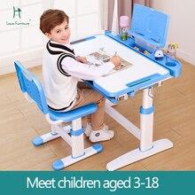 Модный детский стол Луи, обучающий стол, письменный домашний стул, комбинированный костюм для учеников начальной школы, прочный, подъемный