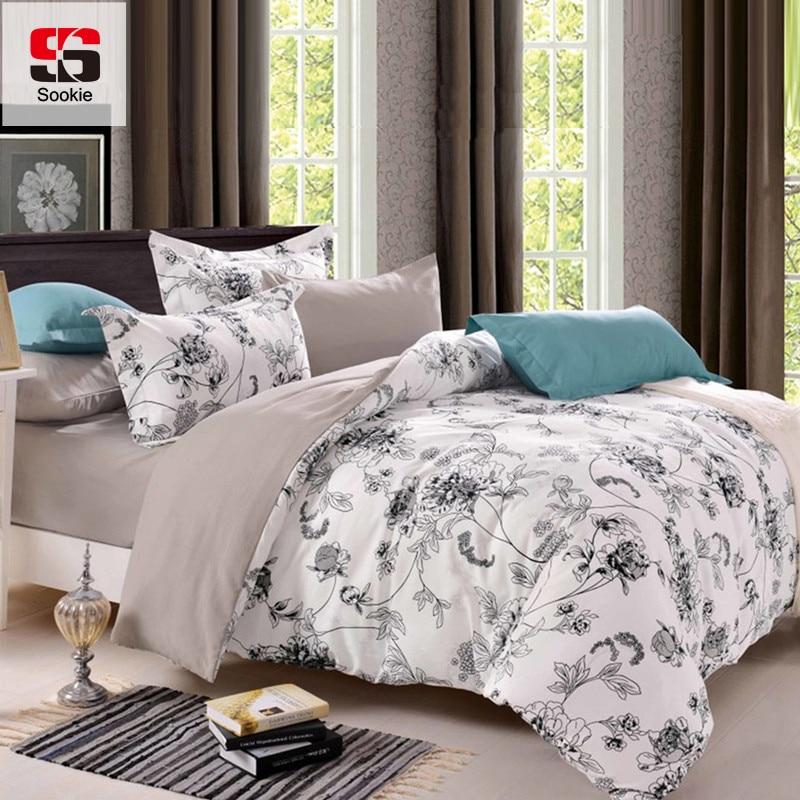 sookie queen size bedding sets pastoral bird printed floral king size duvet cover set. Black Bedroom Furniture Sets. Home Design Ideas