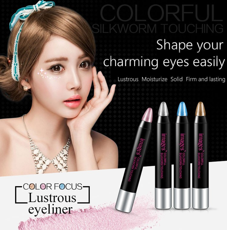 Dazzle colorful moving Lie silkworm pen Pearl lie Eyeshadows stick Waterproof and durable No shading Eye makeup