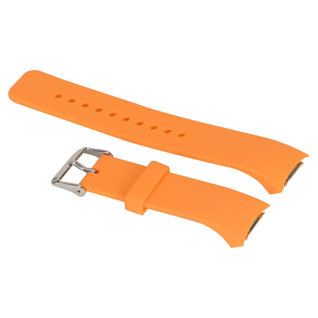 Luxury Silicone Watch Band Strap for Samsung Galaxy S2 Gear SM-R720 Orange 2016 silicone rubber watch band for samsung galaxy gear s2 sm r720 replacement smartwatch bands strap bracelet with patterns