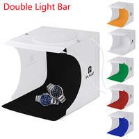 뜨거운 판매 새로운 도착 더블 LED 라이트 룸 사진 스튜디오 조명 텐트 배경 큐브 상자 파티 DIY 장식 # 1DQ