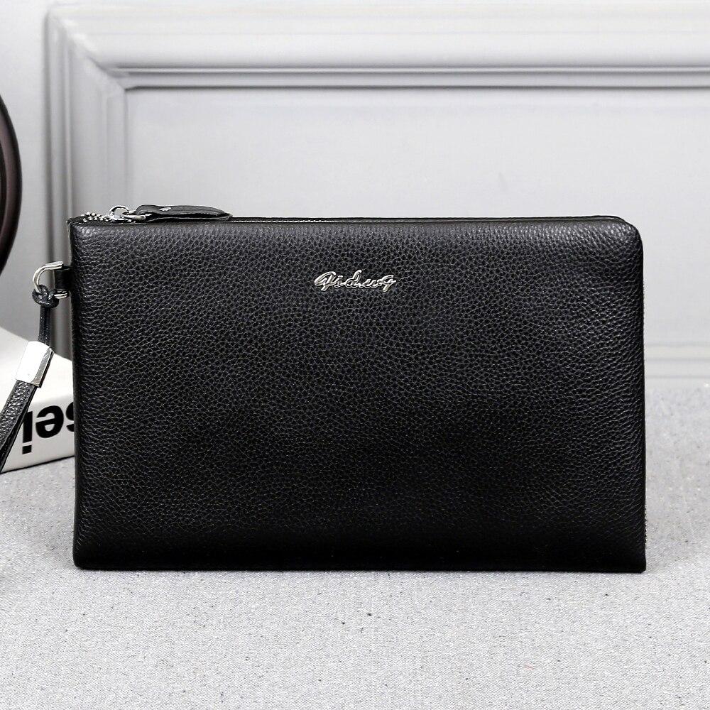 New men wallets leather genuine mens wallets cow leather men wallet clutch bag purses and handbags Monederos