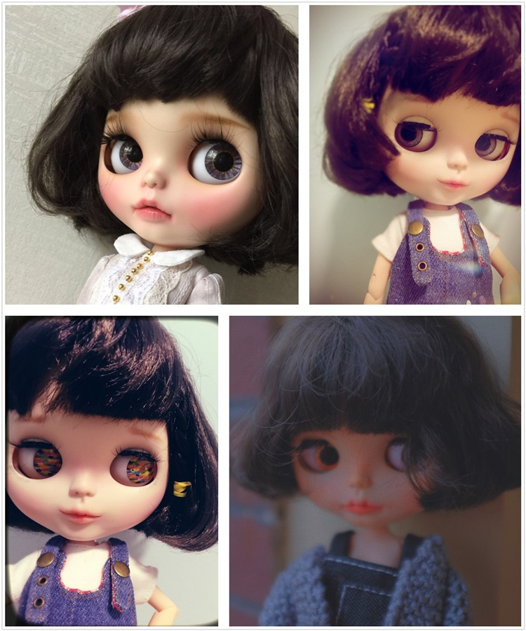 Neo Blythe Doll with Brown Hair, White Skin, Matte Face & Jointed Body 1