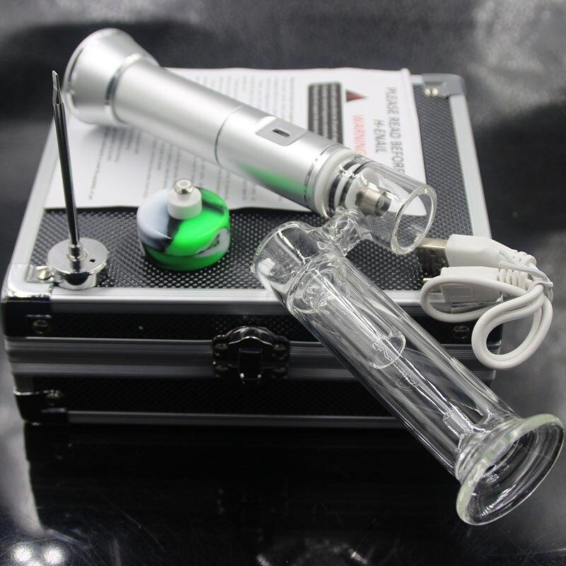 Portable titane Quartz ENAIL électrique numérique ongles PID contrôle de température E kit d'ongle cire vapeur huile plate-forme boîte verre