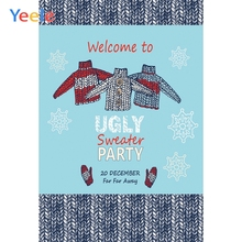 Yeele Ugly Sweater Party Photography Backdrops December 20th Winter Meet Professional Photographic Backgrounds For Photo Studio