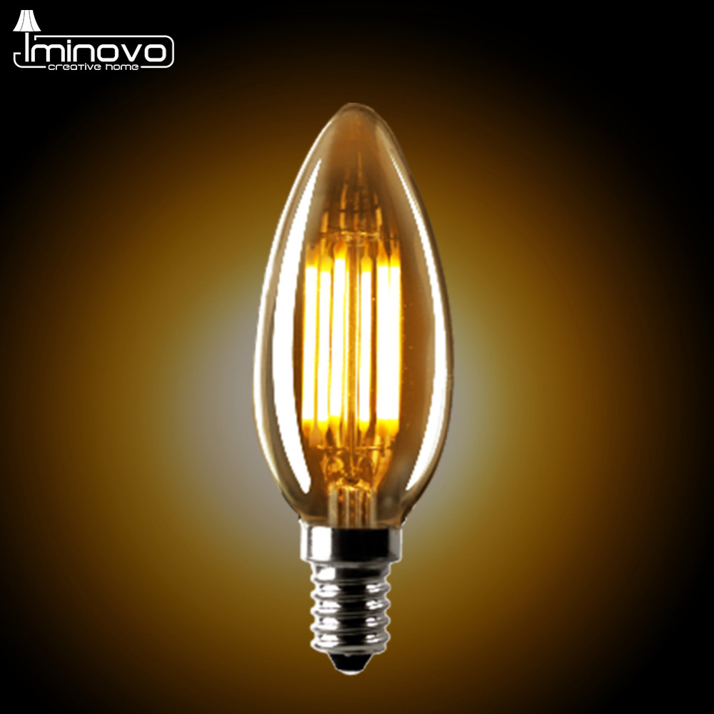 где купить IMINOVO 20 PcsC35 LED Candle Bulb E12 E14 Dimmable LED Edison Light Lamp Retro 2W 4W 6W AC110 220V Filament Bulbs Office Market по лучшей цене