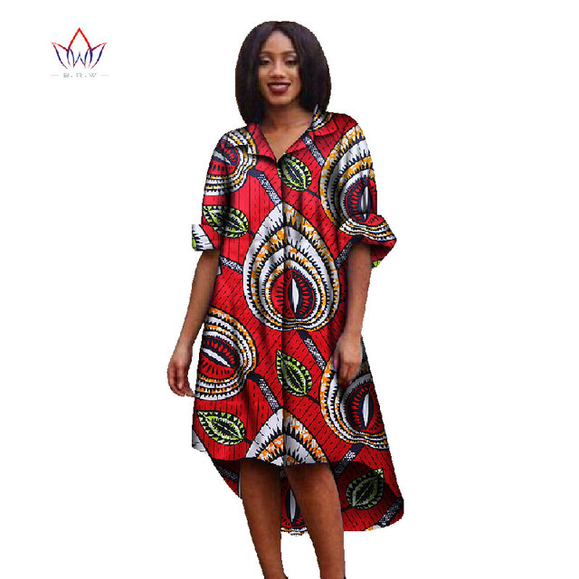 11916c2f0d7 Women African Clothing Autumn Dress Dashiki Office Dress Shirt Dresses Plus  Size Women Clothes WY825