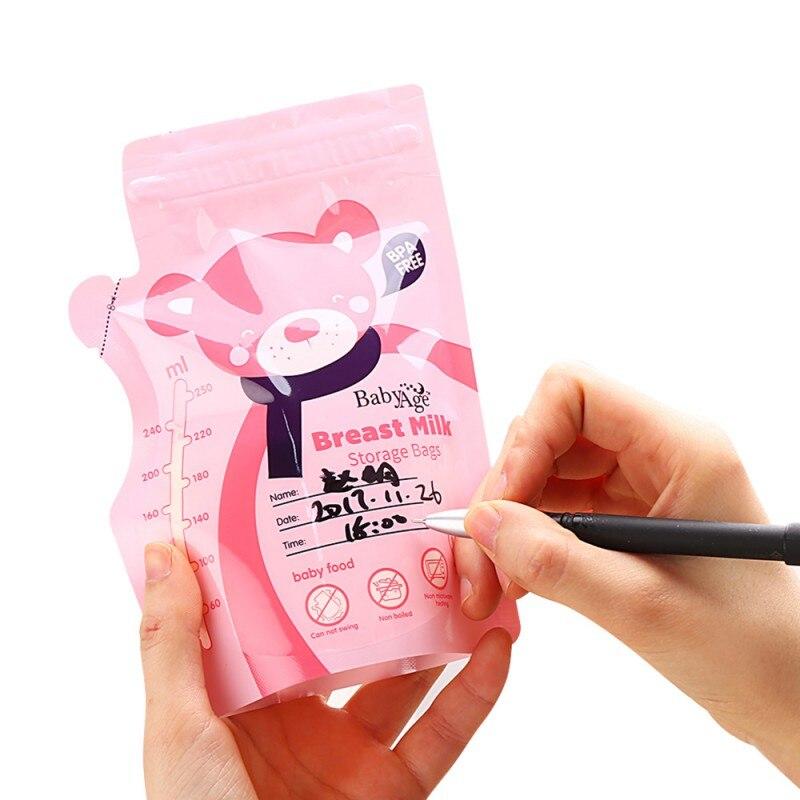 30 Stks/pak Babyvoeding Opslag Moedermelk Opbergzakken Vriezer Grote Maat 250 Ml Storage Bags Milk Storage Bag