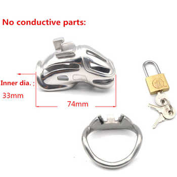 New Design 316 Stainless Steel Cock Cage,Male Chastity Device,Penis Rings,Penis Lock,Bondage BDSM Slave Adult Sex Toy For Man