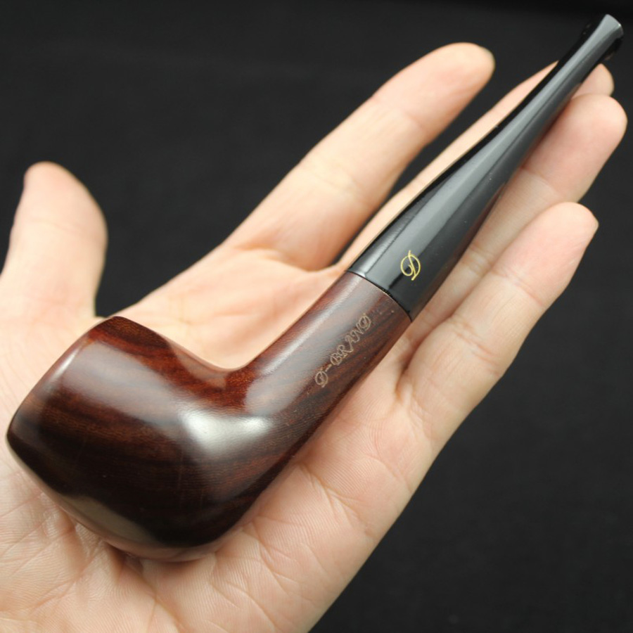 Handmade Nature Solid Red Wood Straight Smoking Pipe Round RoseWood Tobacco Wooden Pipe Gift 10pcs 9mm Filter+Pouch+Holder #083S