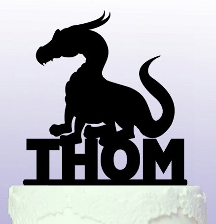 Acrylic Personalised name How to Train Your Dragon birthday cake ...